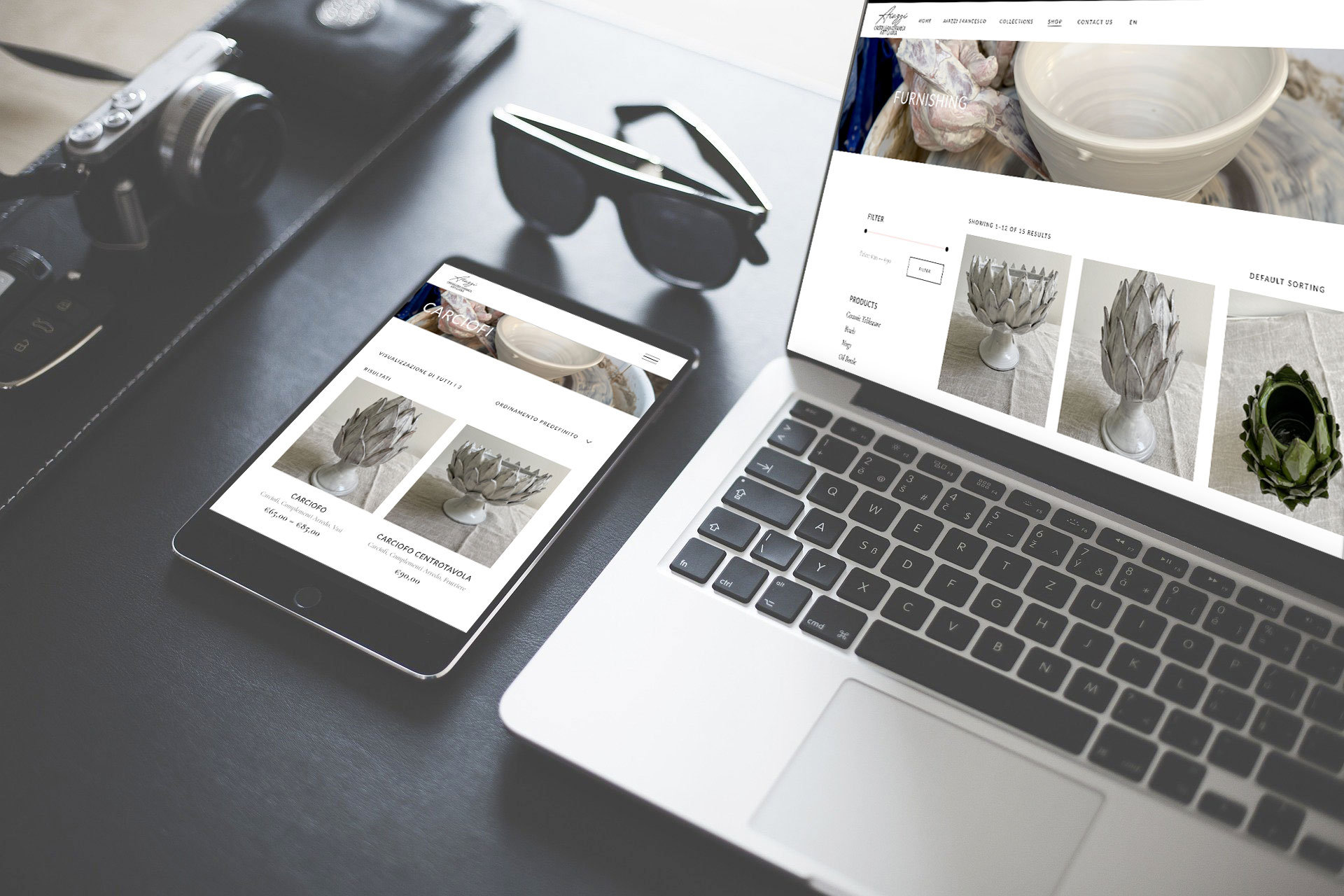 Realizzazione e-commerce per la vendita prodotti in ceramica e vetro