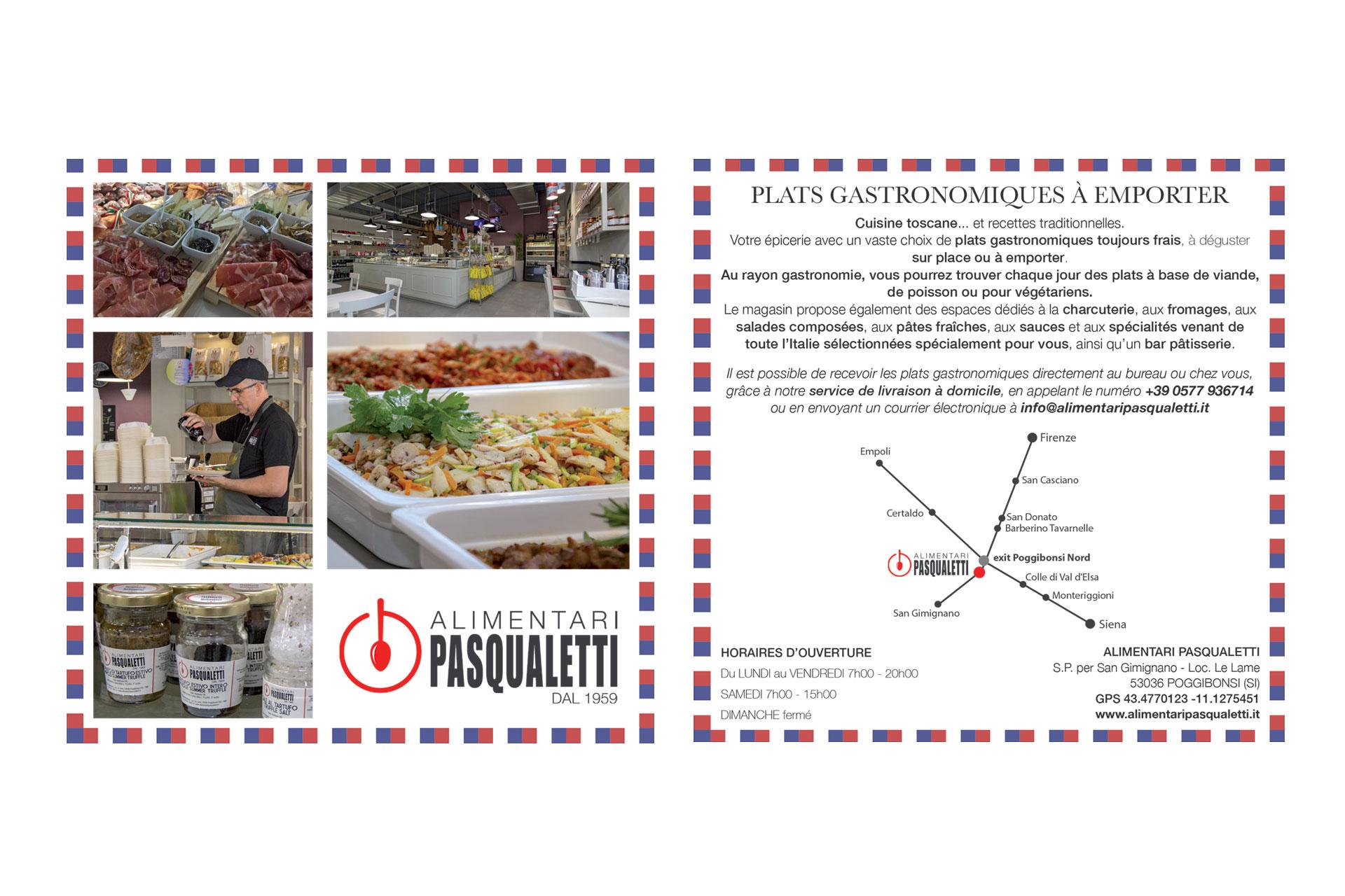 Realizzazione grafica e stampa cartolina Alimentari Pasqualetti