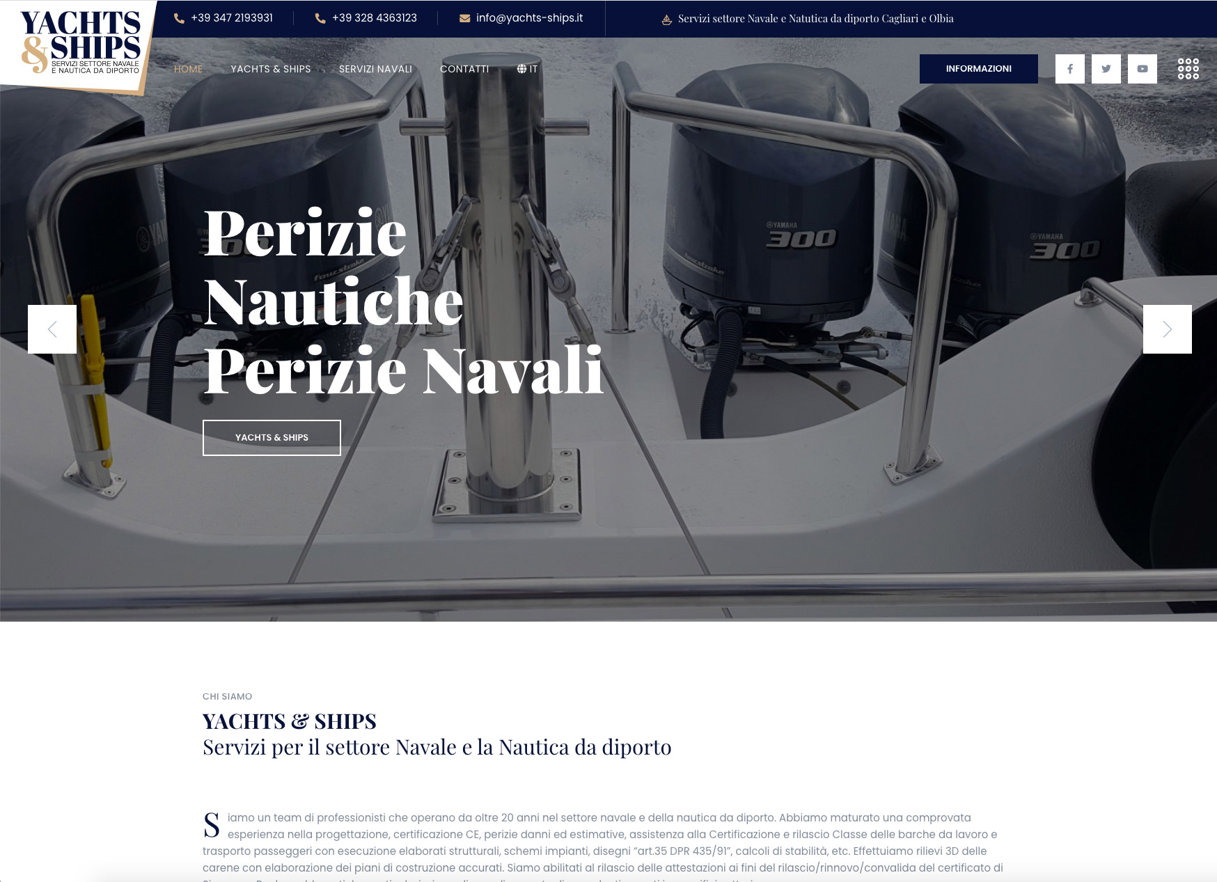 Realizzazione sito web responsive SG Consulting per Yachts and Ships