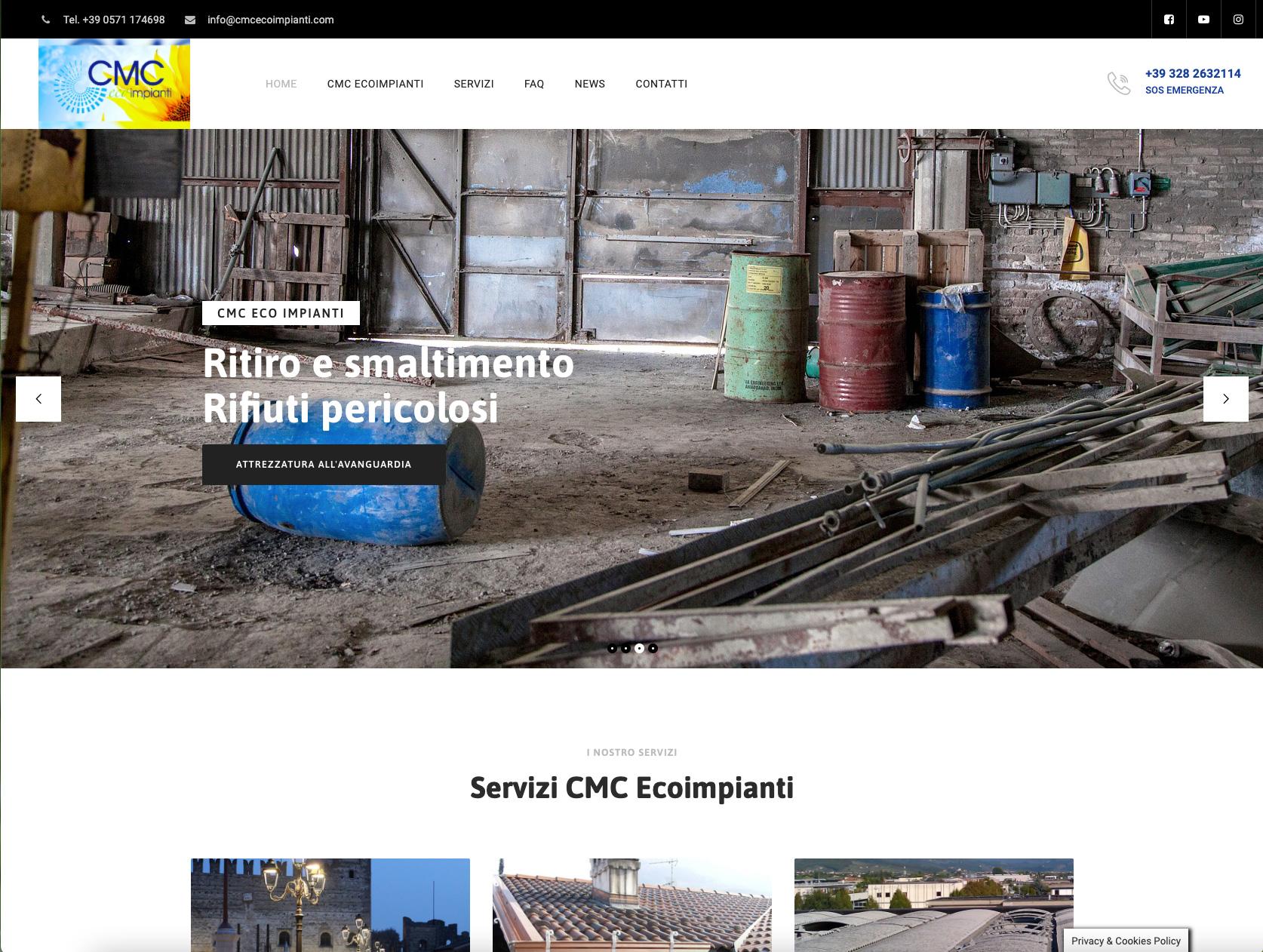 realizzazione Sito web Wordpress cmc eco impianti