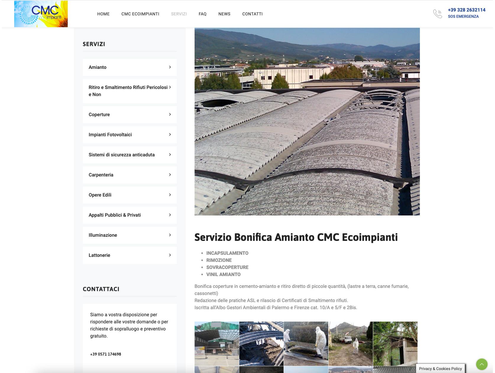 Sito web Wordpress CMC eco impianti