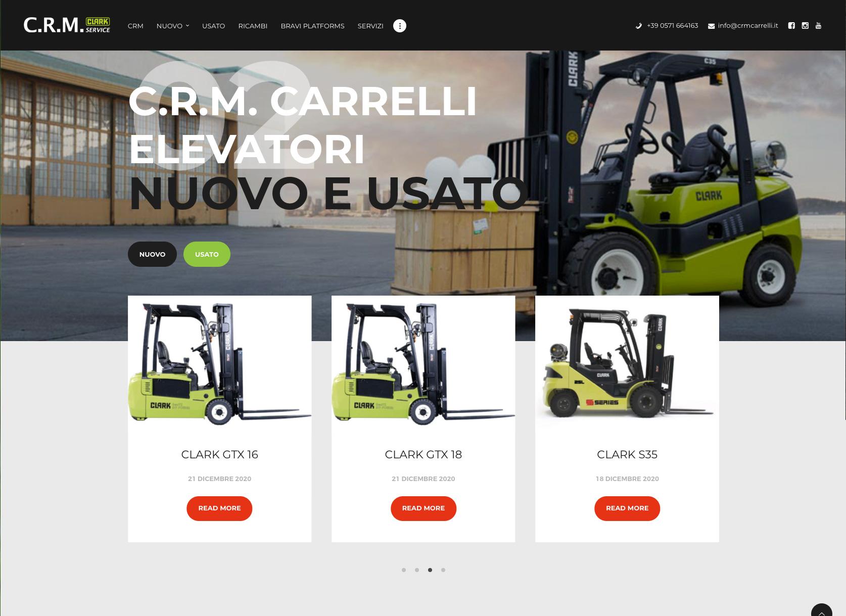 Sito web Wordpress CRM carrelli