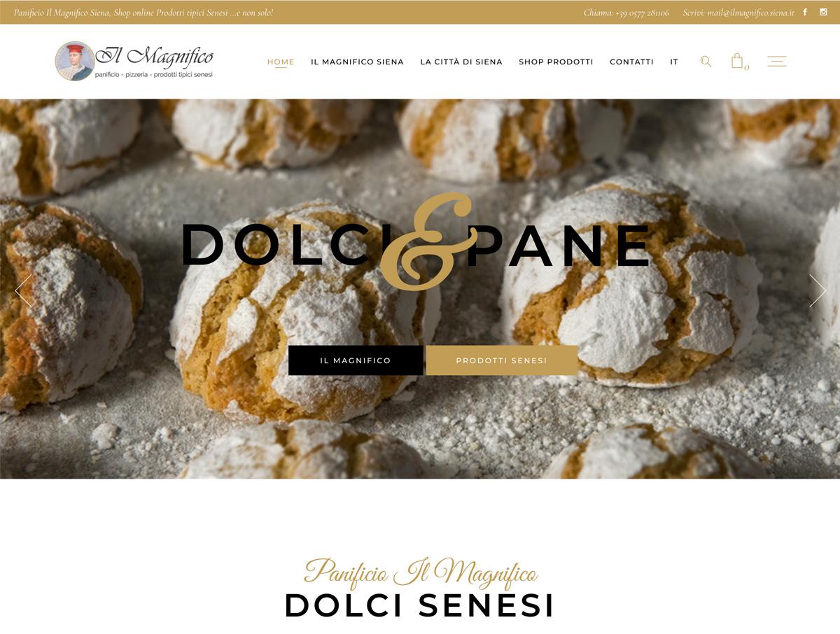 e-commerce Panificio Il Magnifico Siena